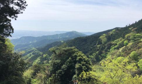大山登山途中の景色