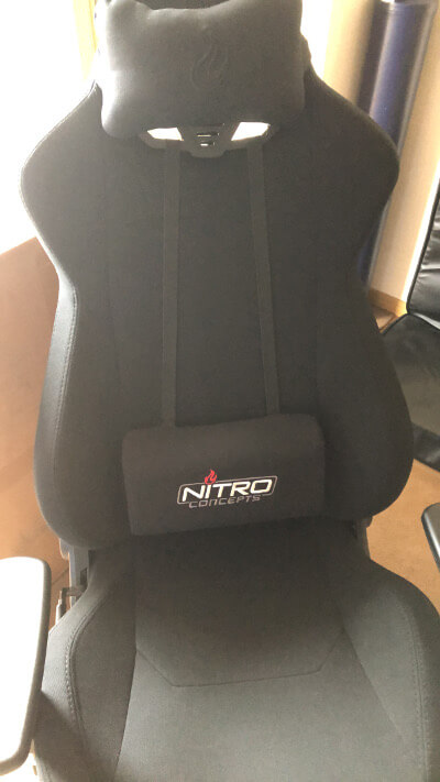 NC-S300-B Nitro Conceptsの背もたれ調整
